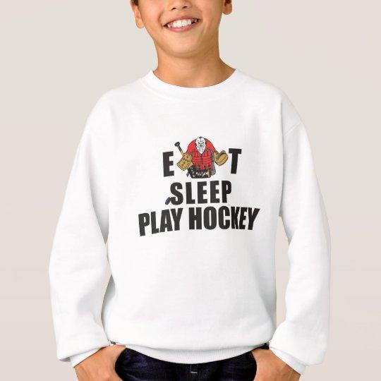 Funny Eat Sleep Play Hockey Goalie Sweatshirt