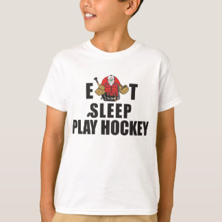 Funny Eat Sleep Play Hockey Goalie T-Shirt