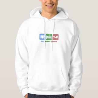 funny eat sleep scuba hoodie