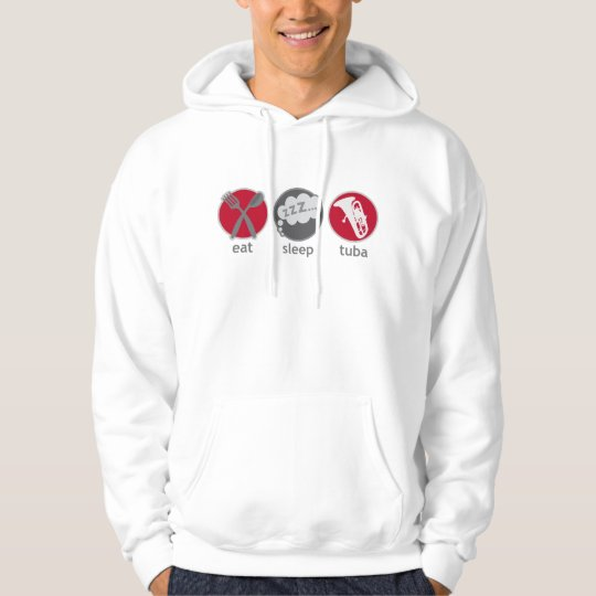 Funny Eat Sleep Tuba Music Hoodie