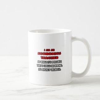 Funny Economics Teacher .. Highly Unlikely Basic White Mug