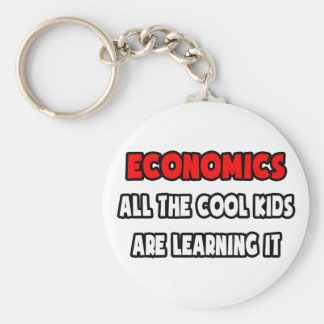 Funny Economics Teacher Shirts and Gifts Keychain