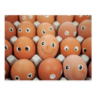 Funny Egg Faces - Breakfast Food Print Postcard