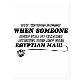 funny  Egyptian Mau designs Postcard