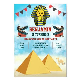 Funny Egyptian Pharaoh King Birthday Invitation