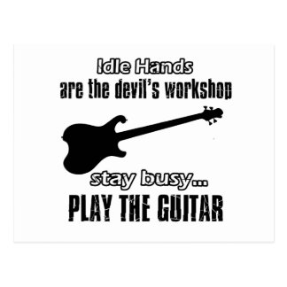 Funny electric guitar designs post card