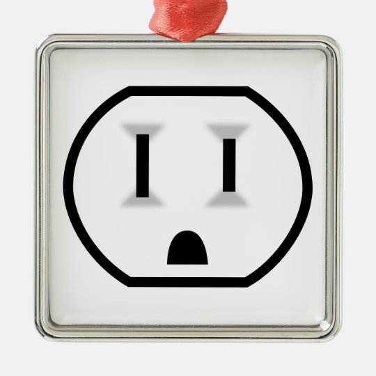 Funny Electrical Outlet Christmas Ornament
