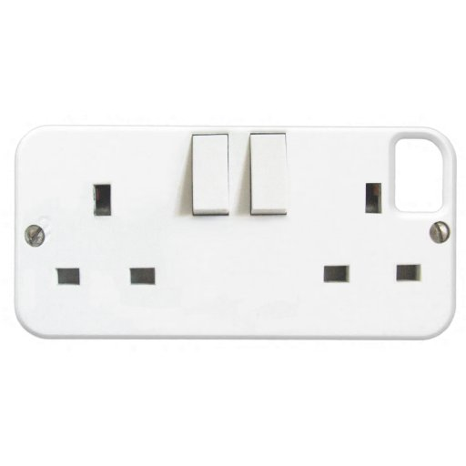Funny Electrical Outlet from UK On iPhone Case iPhone 5 Case