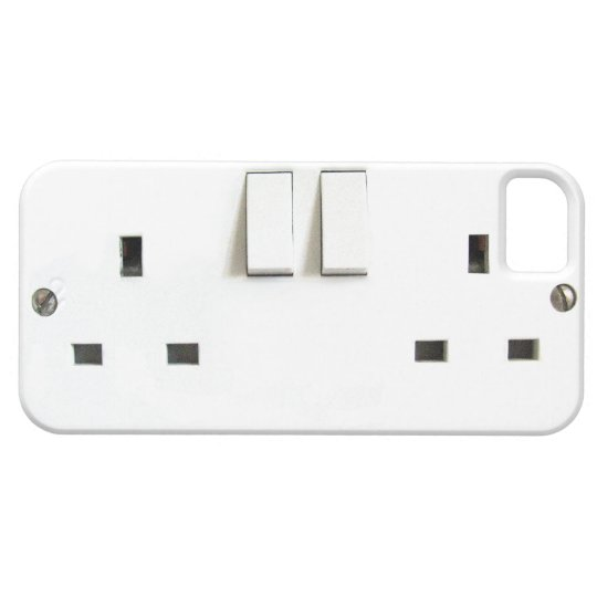 Funny Electrical Outlet from UK On iPhone Case