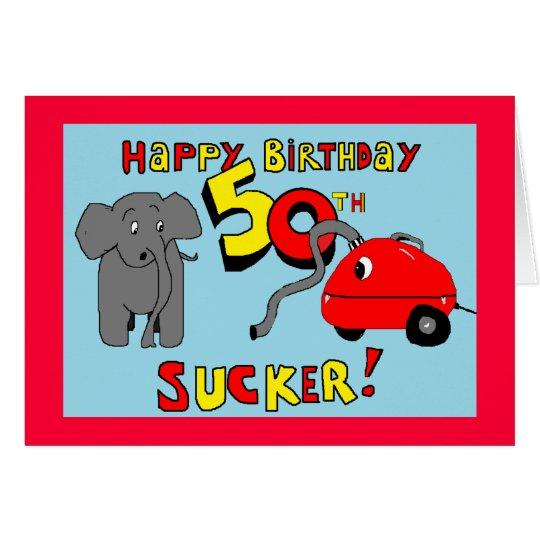 funny elephant 50th birthday card