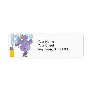 funny elephant in a china shop return address label