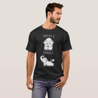 Funny Elephant Inhale Exhale Yoga T-Shirt