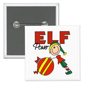 Funny Elf Christmas Gift 15 Cm Square Badge