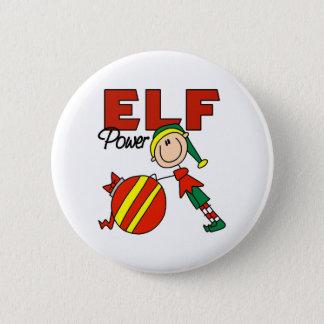 Funny Elf Christmas Gift 6 Cm Round Badge