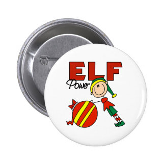 Funny Elf Christmas Gift 6 Cm Round Badge