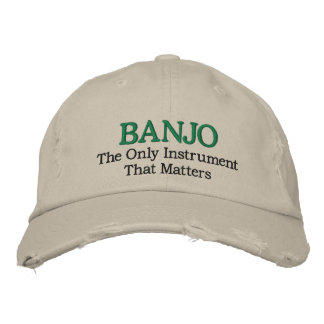 Funny Embroidered Banjo Music Hat Embroidered Baseball Cap