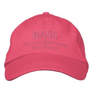 Funny Embroidered Bass Music Cap Baseball Cap