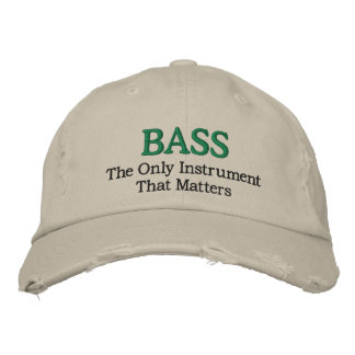 Funny Embroidered Bass Music Hat