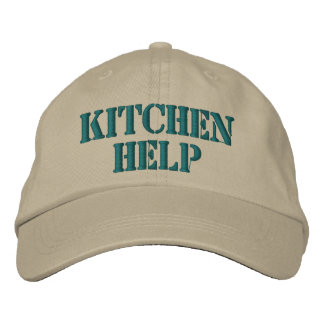 Funny Embroidered Kitchen Help Cap Baseball Cap