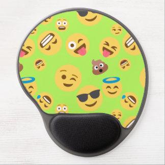 Funny Emoji Pattern (green) Gel Mouse Pad