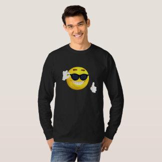 Funny Emoji Sticking  with Sunglasses Flirting T-Shirt