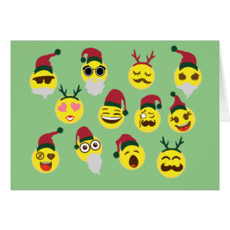 Funny Emojis Christmas Card
