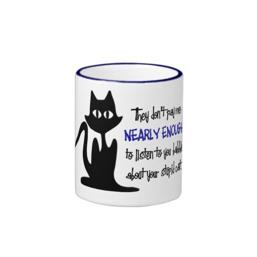 Funny employee and cat coffee cup for the office mug zazzle - Funny office coffee mugs ...