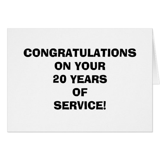 Funny Employee Years of Service Card
