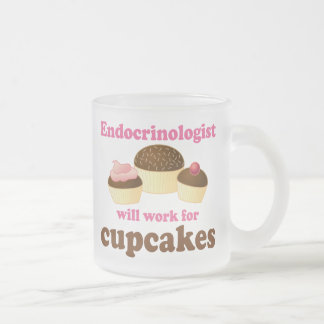 Funny Endocrinologist Frosted Glass Coffee Mug
