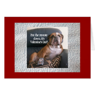 Funny English bulldog Valentine's Day Card
