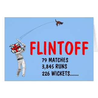Funny English cricket Greeting Card