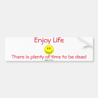 Funny Enjoy Life Smiley Face Bumper Sticker