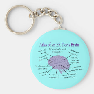 Funny ER Doctor Physician Gifts Key Ring