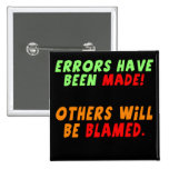 Funny Errors Made T-shirts Gifts 15 Cm Square Badge
