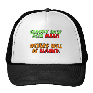 Funny Errors Made T-shirts Gifts Mesh Hat