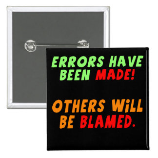 Funny Errors Made T-shirts Gifts Pinback Button