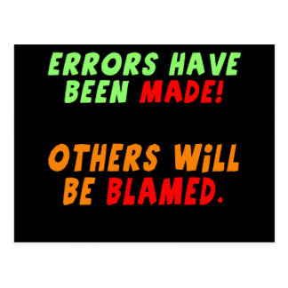 Funny Errors Made T-shirts Gifts Post Card