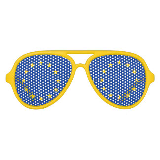 Funny European Union flag party shades Fun glasses