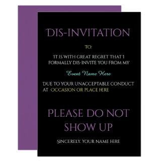 Funny Event Dis-invitation Card