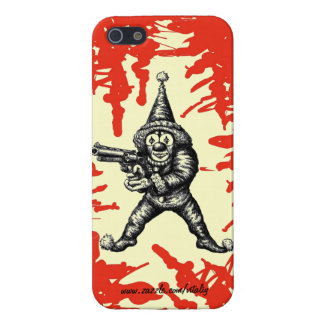 Funny evil clown pen ink drawing art case for iPhone 5/5S