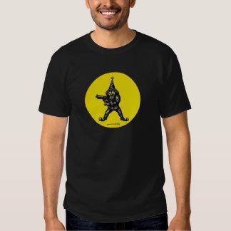 Funny evil clown pen ink drawing art t-shirt