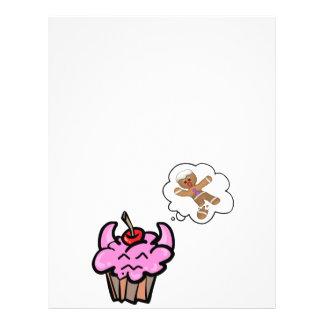 Funny Evil Cookie Killer Cupcake 21.5 Cm X 28 Cm Flyer