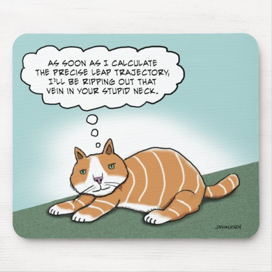 Funny Evil Kitty Mouse Mat