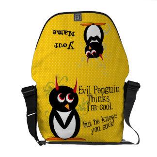 Funny Evil Penguin Commuter Bag