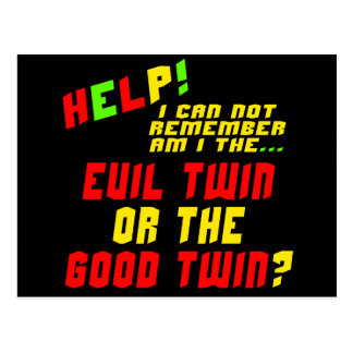 Funny Evil Twin T-shirts Gifts Postcard