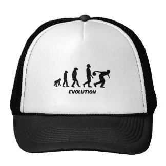 funny evolution bowling mesh hat