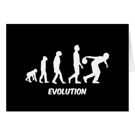 funny evolution bowling card