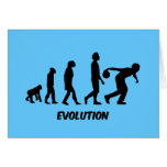 funny evolution bowling greeting card