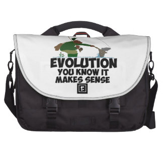 Funny evolution laptop bags