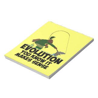 Funny evolution notepad